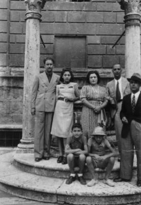 Stefano Tuscano (a destra) Pienza agosto 1938