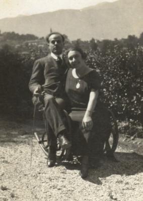 Tuscano con la moglie nel 1924